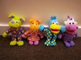 Pajanimals set of 4 soft toys