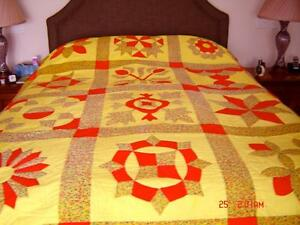 Beautiful Vibrant & Stunning Hand Crafted Cotton Quilt
