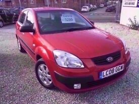 08 KIA RIO 1.4 PETROL IN RED *PX WELCOME* MOT TILL MAY 2018 £1200