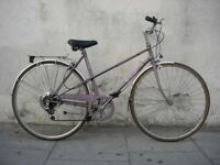 Vintage Mixte Hybrid/ Commuter Bike by Raleigh, Lavender,Great Condition!JUST SERVICED/CHEAP PRICE!!