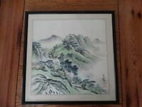 Beautifal Chinese Print in black frame