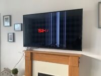 "55"" Sharp smart TV. Damaged screen, spares and repairs?"