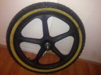 "Skyway 2 tuff mag wheels 20"" bmx 1.95 tyres front rear"
