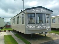 3-bed static caravan at Golden Gate Holiday Centre, Towyn: Holiday lets only