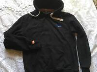 Superdry men's hoodies fleece black Size L Used in good condition £10