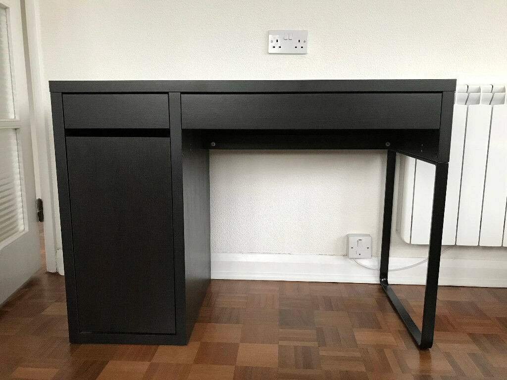 100 micke desk black brown ikea micke desk black for Ikea desk black