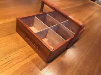 Hand Crafted Wooden Spice Box