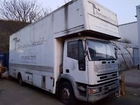 FOR SALE IVECO 120E18 An Ideal removal vehicle. Ready to work. LOW EMMISSION PARTICLE TRAP FITTED