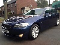 BMW 5 SERIES 2 520 d SE Touring AUTO SAT NAV LEATHERS SEATS FULL BMW SERVICE HISTORY P/X WELCOME