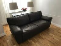 Real leather sofa-bed