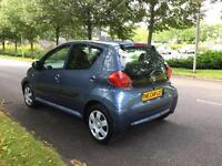 2008 Toyota Aygo blue 1 lady owner from new, Only 38,000 miles, full service history,
