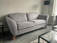 Grey Sofa Set - 3 Seater & Cuddle Chair