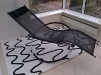 Black mesh modern zero gravity chair. Very comfortable. As new