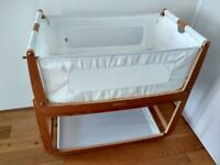 Snuzpod 3 crib with side sleeper function, with accessories