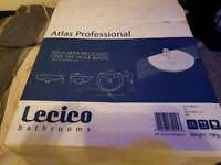 Lecico Bathrooms Atlas Professional 50cm Semi Recessed One Tap Hole Basin