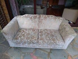 Vintage Velvet Large Two Seater Sofa