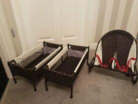 Mamas and Papas bunk bed and rocker