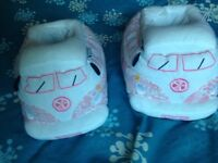 Pink & White Camper slippers