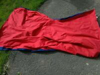 Blow up air bed double camping bed.
