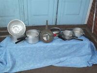 Vintage aluminum pans for cooking