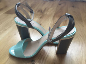 Sandals in grey and aqua from redherring, size 5.