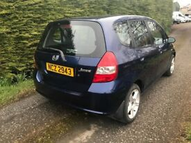 2002 Honda Jazz 1.4 SE 5dr, full year mot, driving well , new battery, first £500 cash gets it.