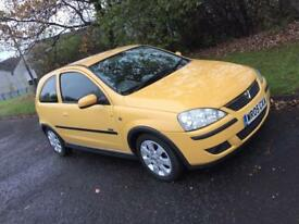 2005 Vauxhall Corsa 83k 12m MOT rare yellow MINT CONDITION!