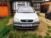 ZAFIRA 2003-LONG MOT-7SEATER CLEAN IN OUT-START RUNS AS GOOD AS NEW-NEW TIMING BELT FULL SERVICE