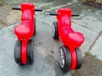 2 children's balance bikes