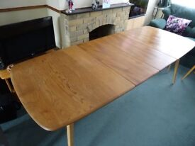 Ercol Windsor Extending Dining Table and Eight Chairs