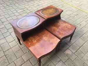 Antique Mahogany Bedside Tables - Set of 2