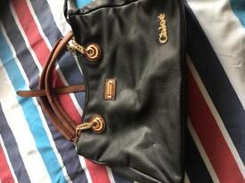 Black and brown bag