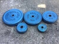 51KG OF BODY SCULPTURE CAST IRON WEIGHT PLATES