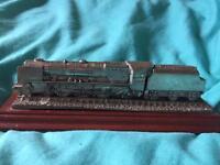 The duchess of Hamilton steam train model ornament. Royal hampshire 16cm long