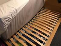 Ikea pine double bed
