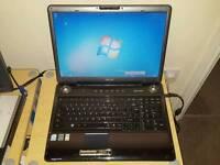 Toshiba P300 laptop. 17 inch. Harmon cardon speakers