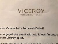 2 DAYS DUBAI 50% OFF HOTEL - VICEROY PALM JUMEIRAH