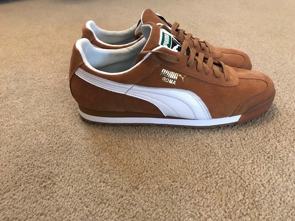 06b79e88e689 Men's uk size 10 tan suede Puma Roma trainers | in Tingley, West ...