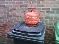 gas bottle 4.7 kg little gas in it