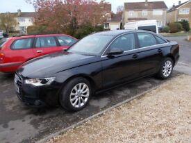 AUDI A6 2.0TDI SE Brilliant black, black leather , 111K , FSH, Auto, VGC, new cambelt, low tax.