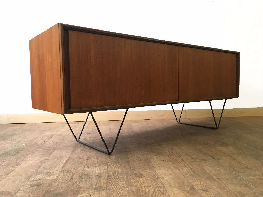 Retro Teak Minimalist G Plan Sideboard Raised On V Shape