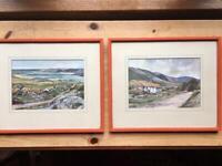Two vintage original prints of Donegal.