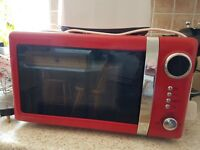 Wilko red microwave oven. 3 years old.