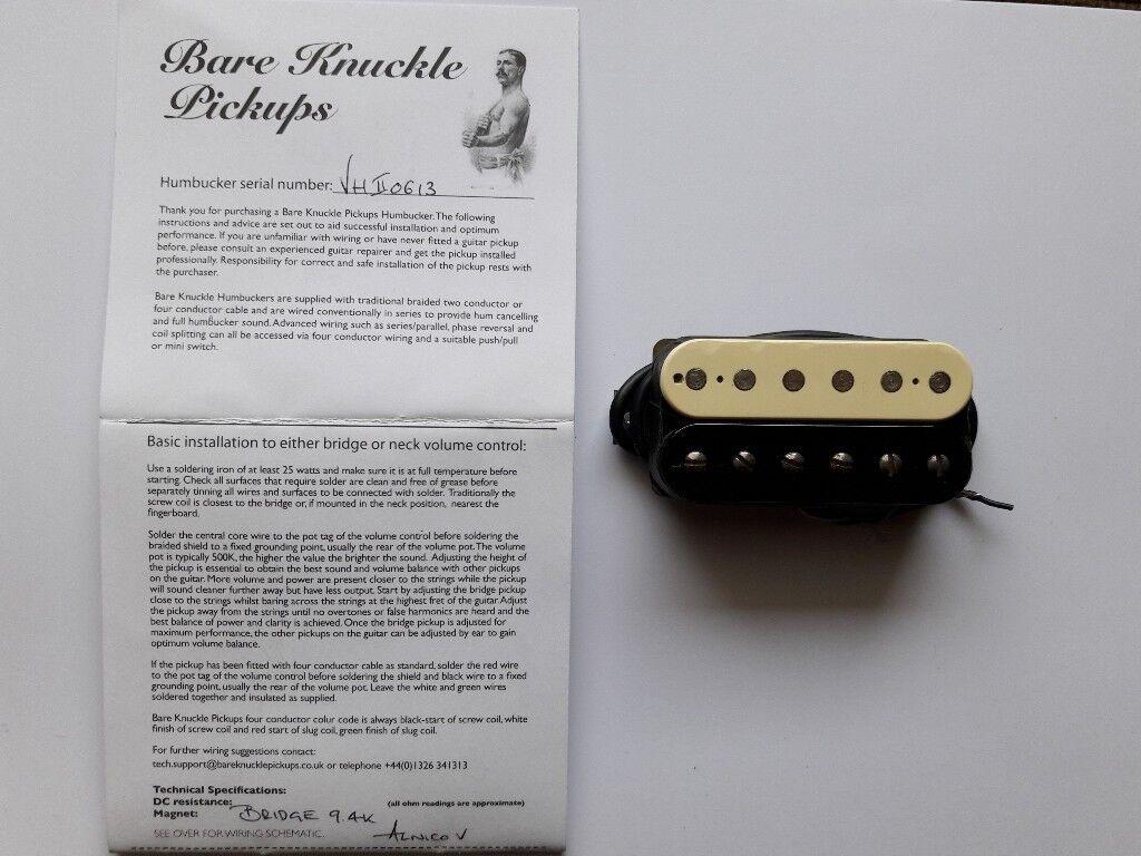 Bare Knuckle Vhii Bridge Humbucker F Spaced In Leith Edinburgh Guitar Wiring Diagram Two Humbuckers And