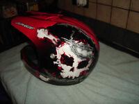 motor cross helmet kids age 7plus used once new