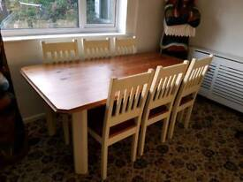 Solid wood dining table and dresser