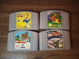 Nintendo 64 game cartridges