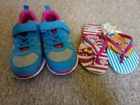 Kids Trainers and Flip Flops (size 12)