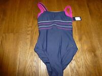 New size 10 Maine swimming costume navy and pink