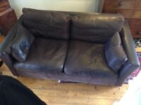 Large Chocolate Brown Leather Sofa made by Sofa Workshop